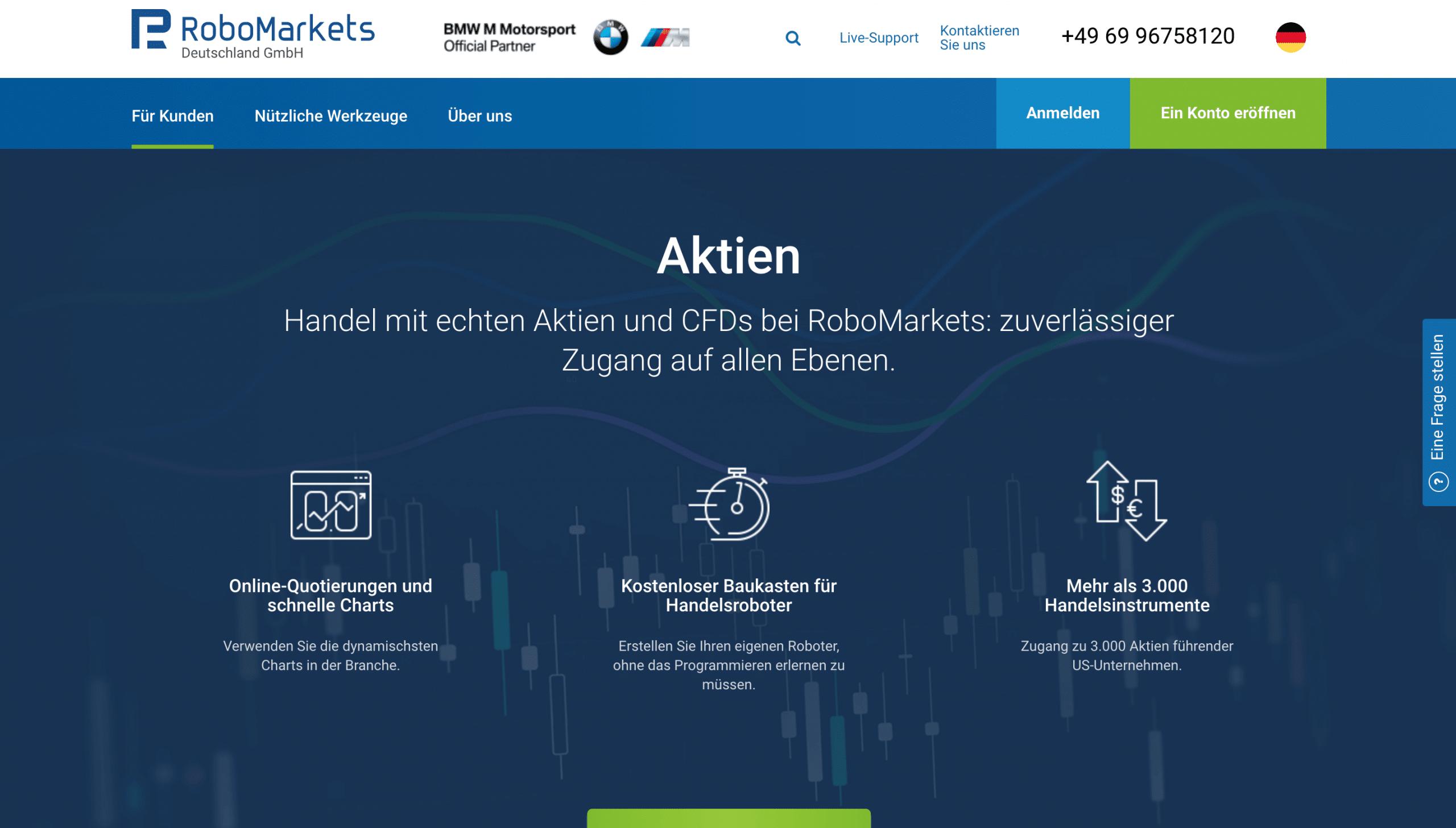 Robomarkets Aktien