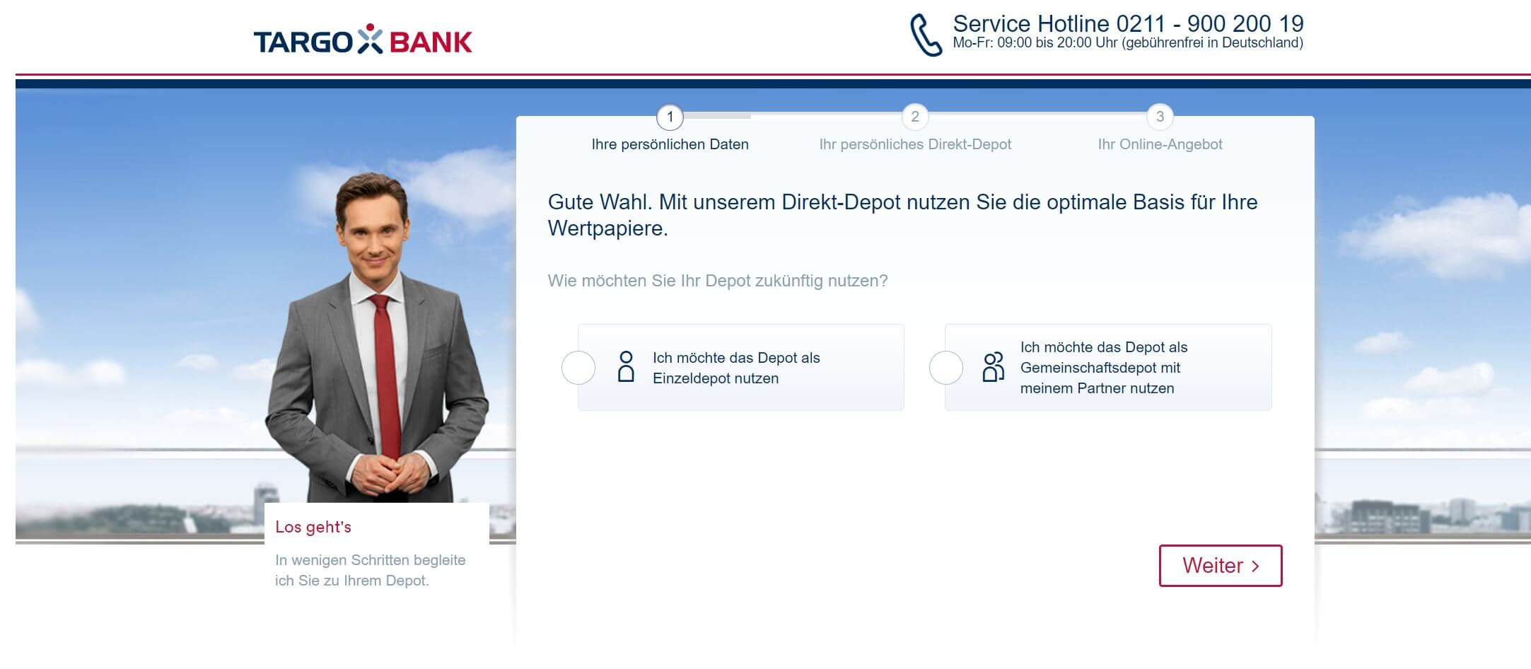 Targobank Depot Anmeldung