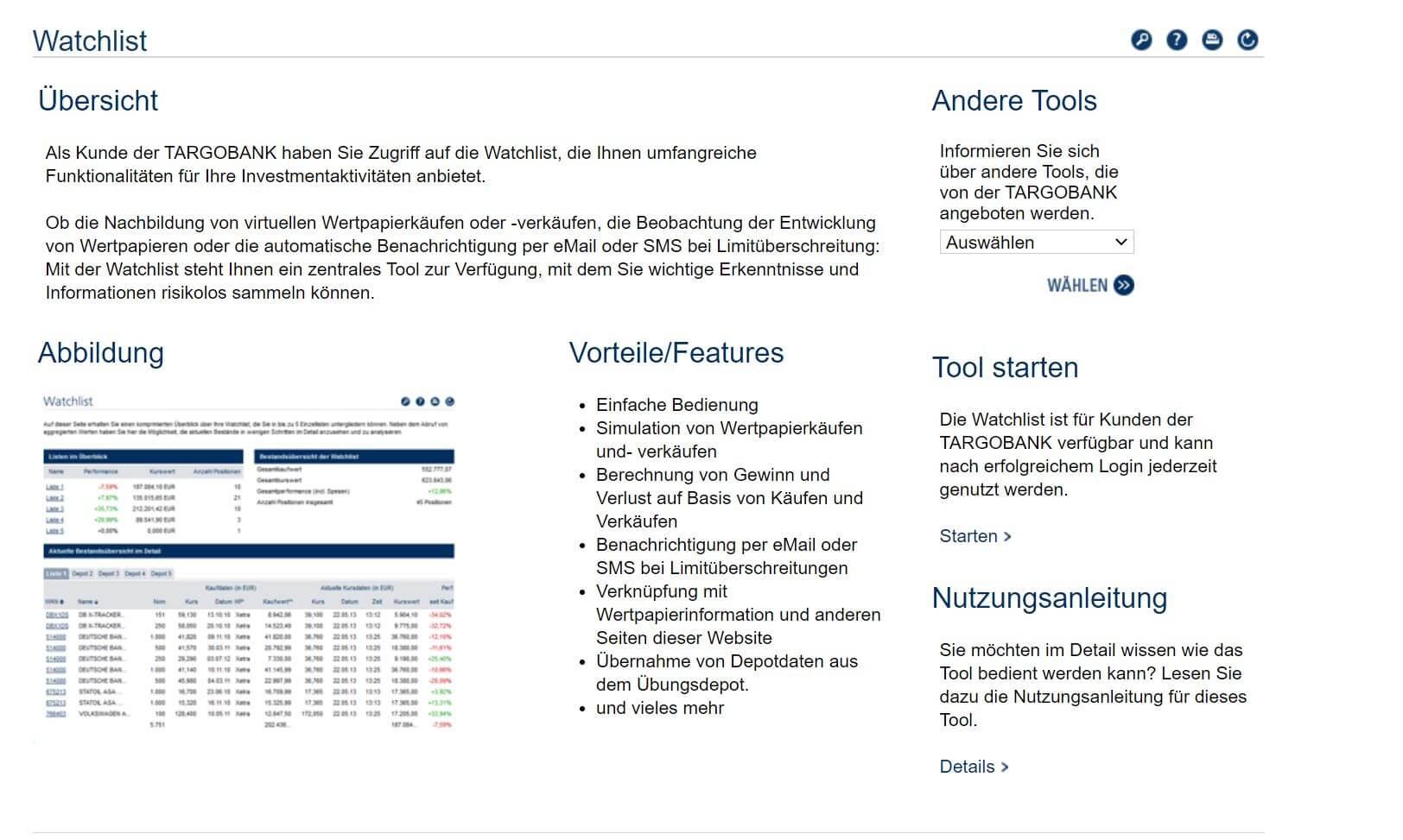 Targobank Watchlist