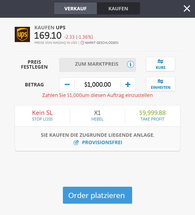 UPS Logistik Aktie kaufen