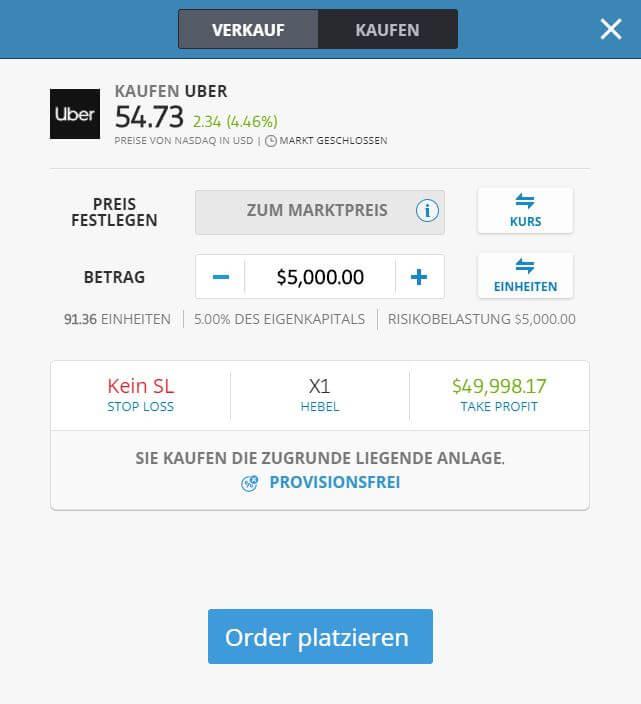 Uber Aktien Kaufen