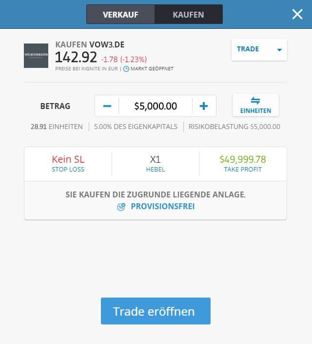 VW Aktien Kaufen