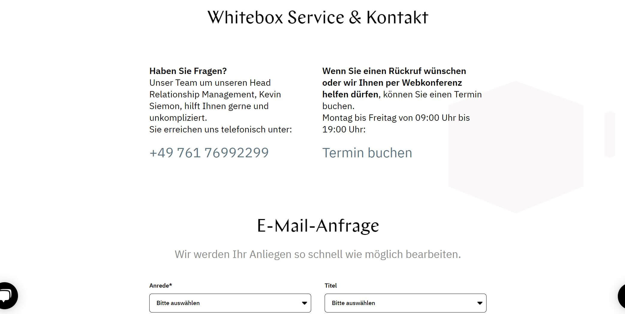 Whitebox Kontakt