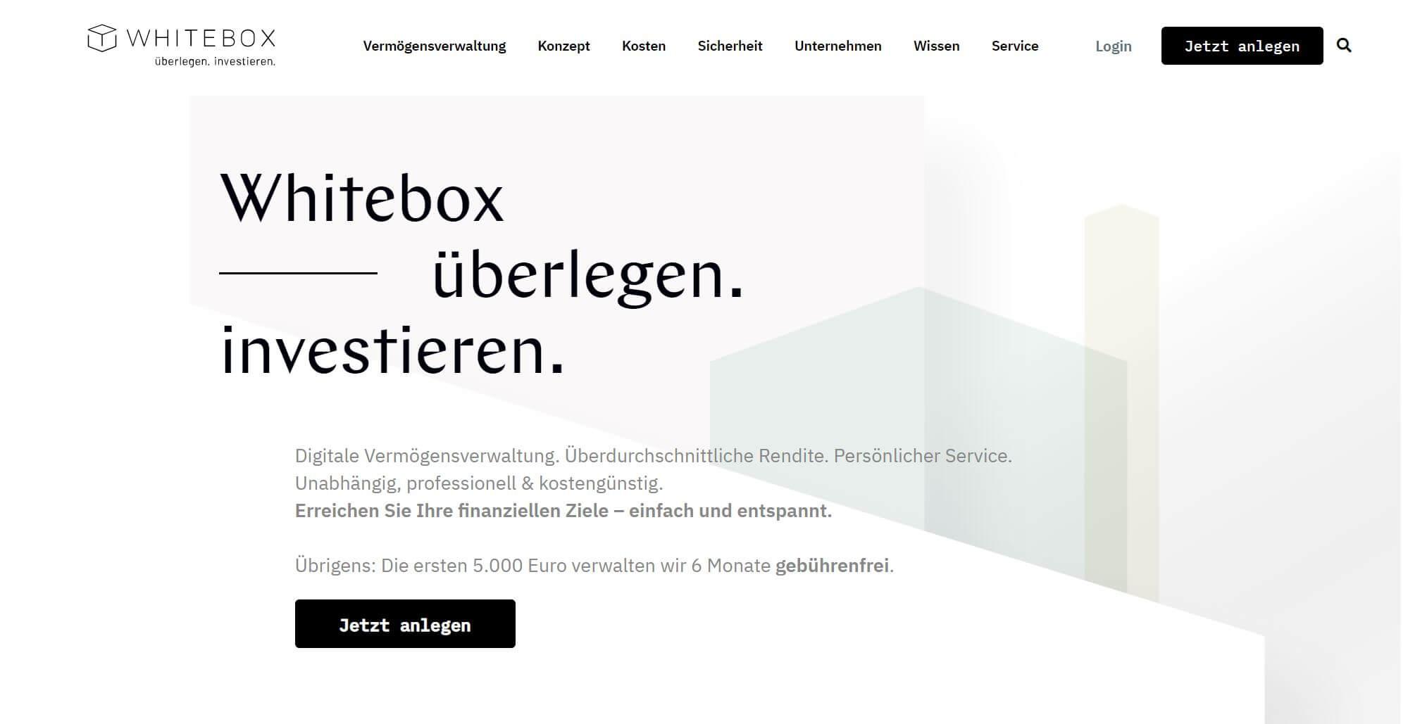 Whitebox Startseite