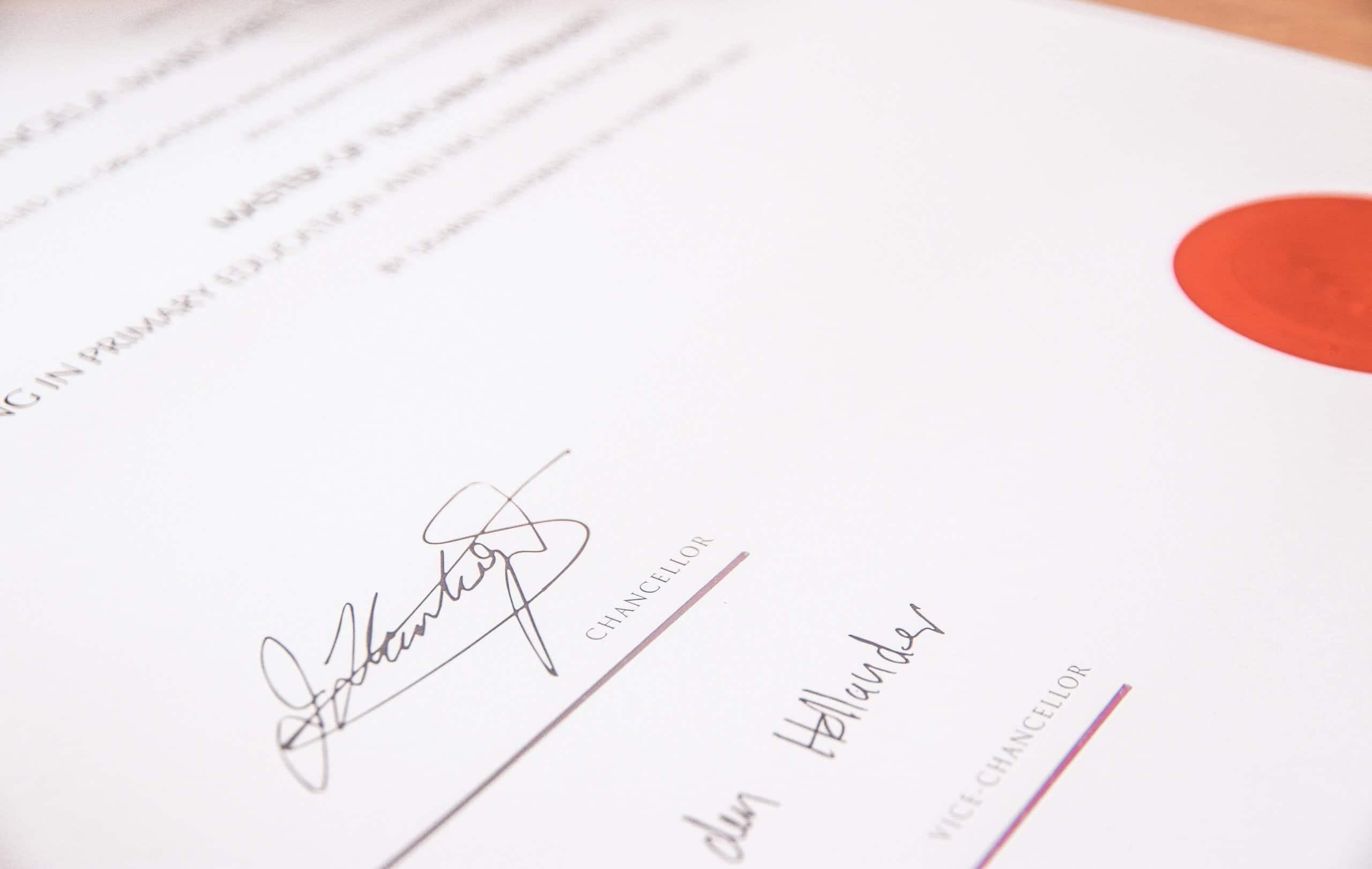 Unterschrift vor Docusign