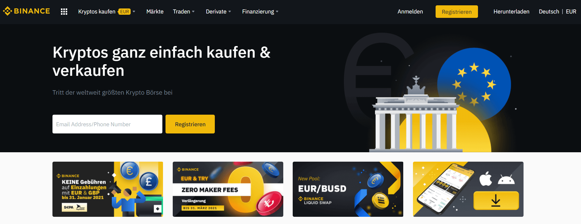 Binance Header