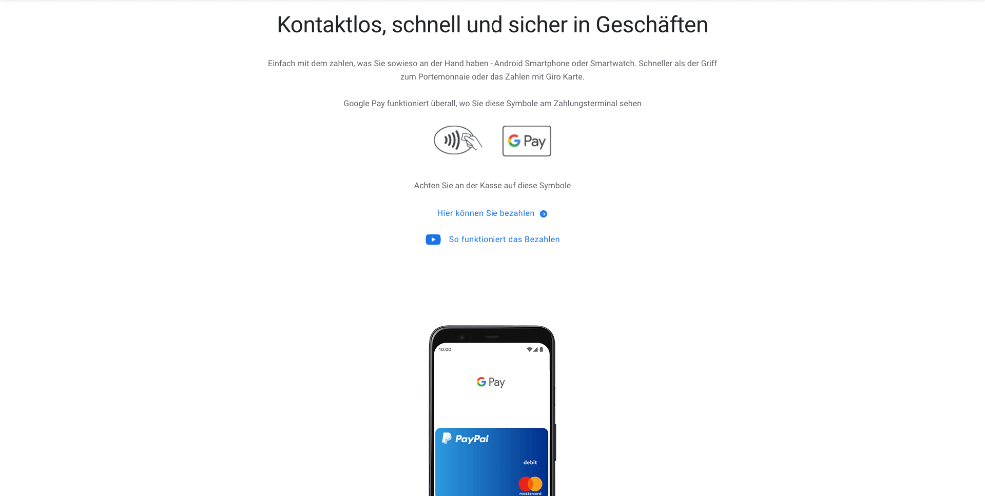 Google Pay Funktionen