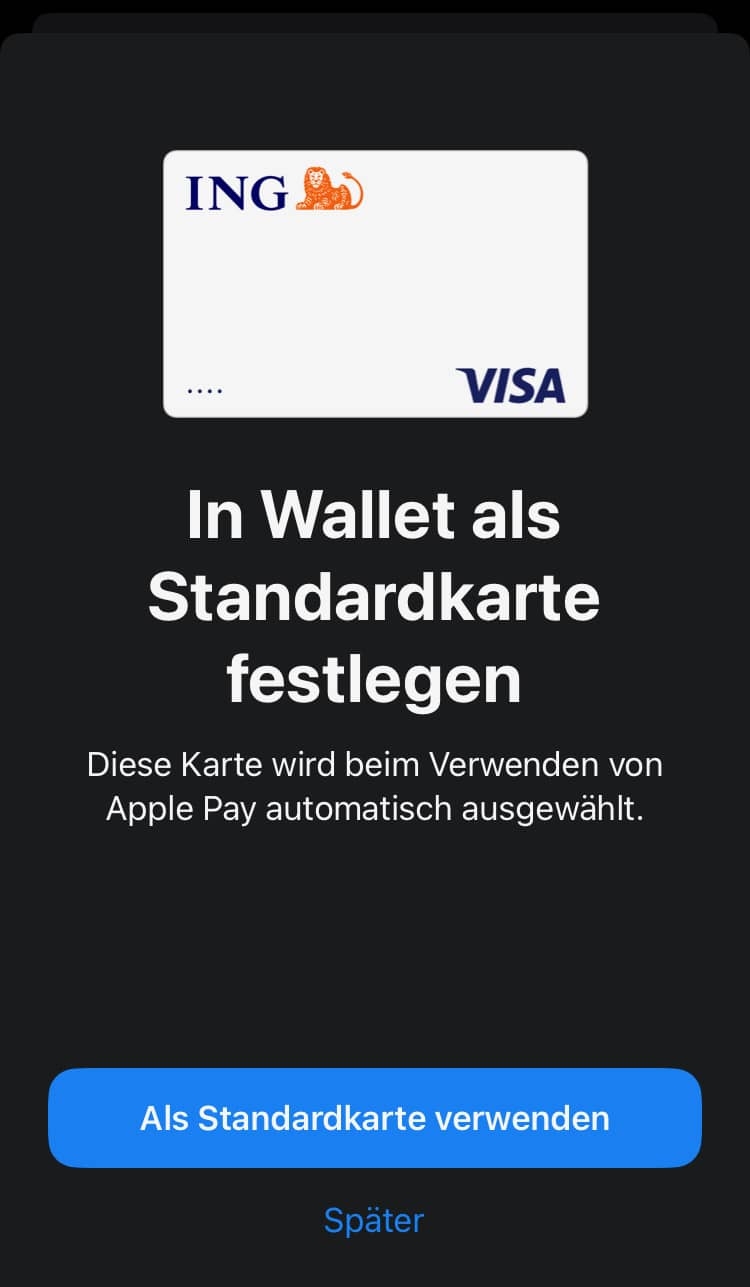 Apple Wallet einrichten