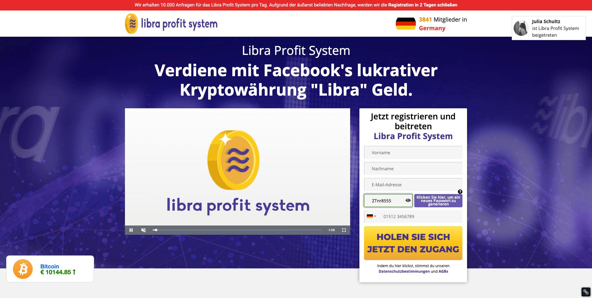 Libra trader anmeldung