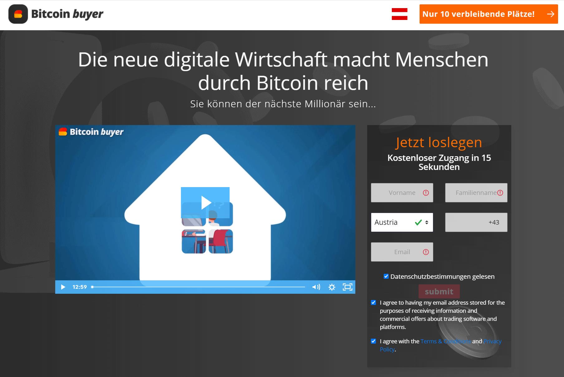 Bitcoin Buyer Anmeldung