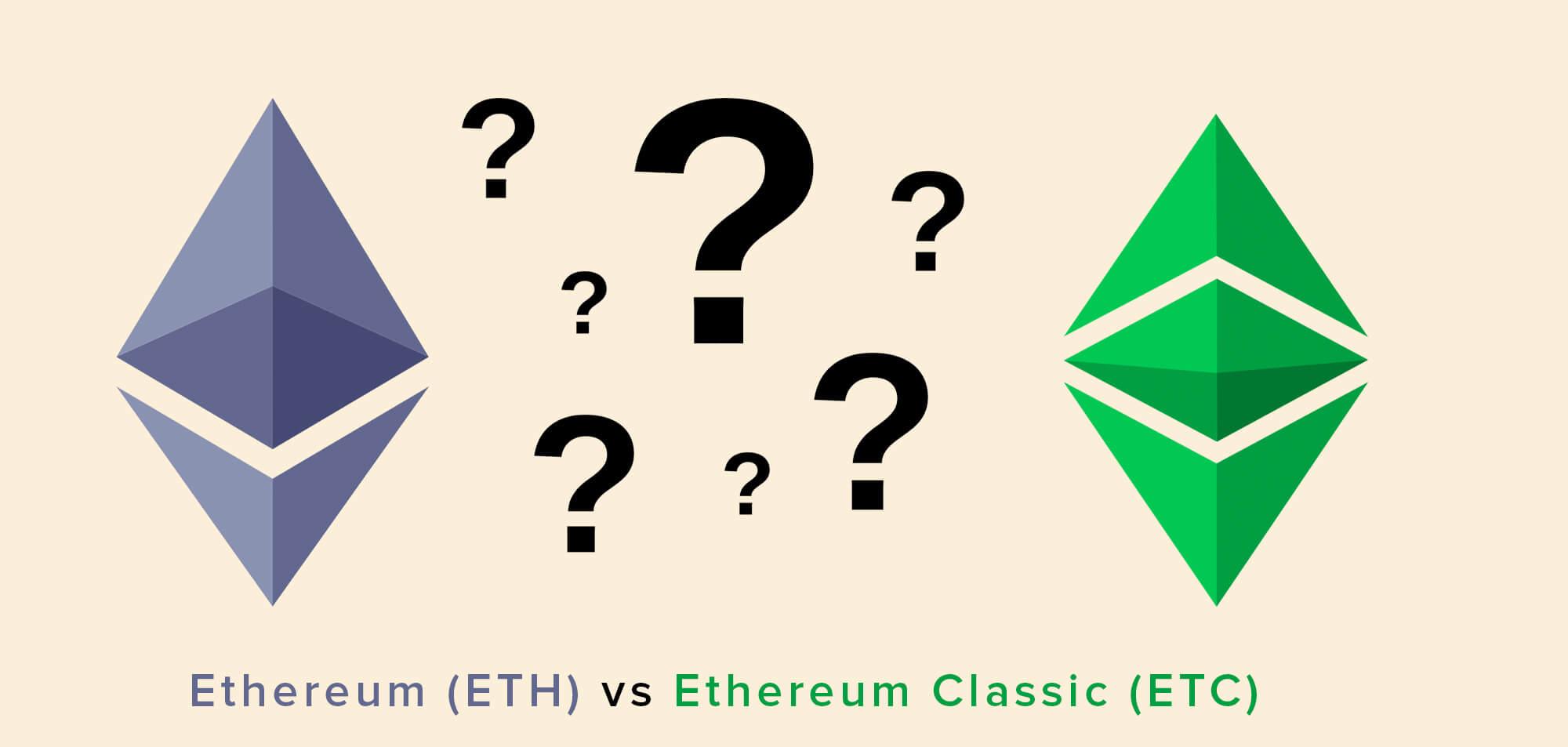 Ethereum (ETH) vs Ethereum Classic (ETC)