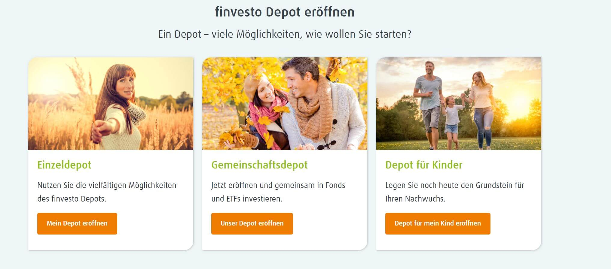 Finvesto Depot wählen