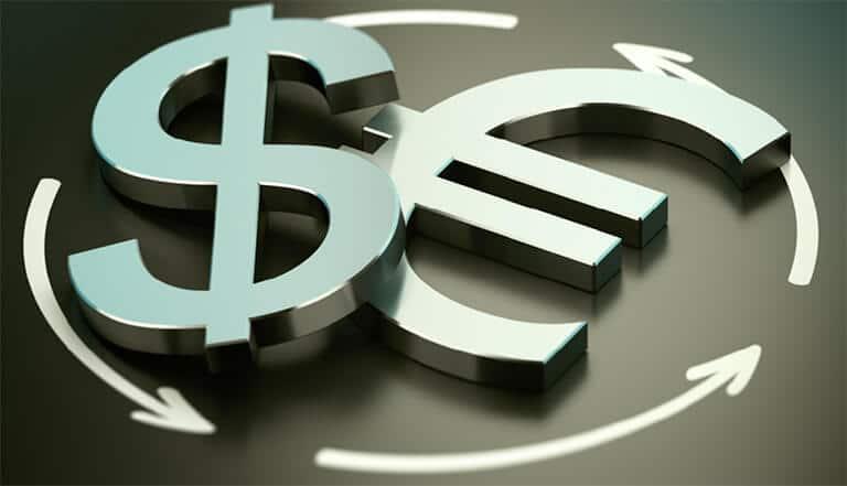 Euro Dollar 3D Logo