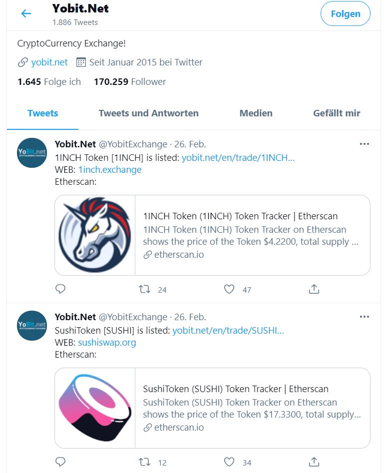 YoBit Twitter