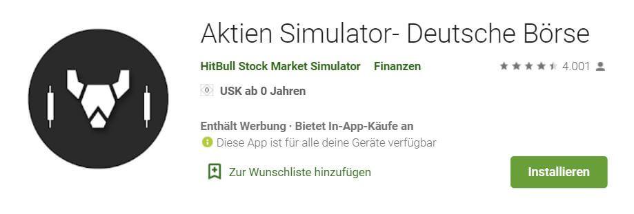 Aktien Simulator Deutsche Börse