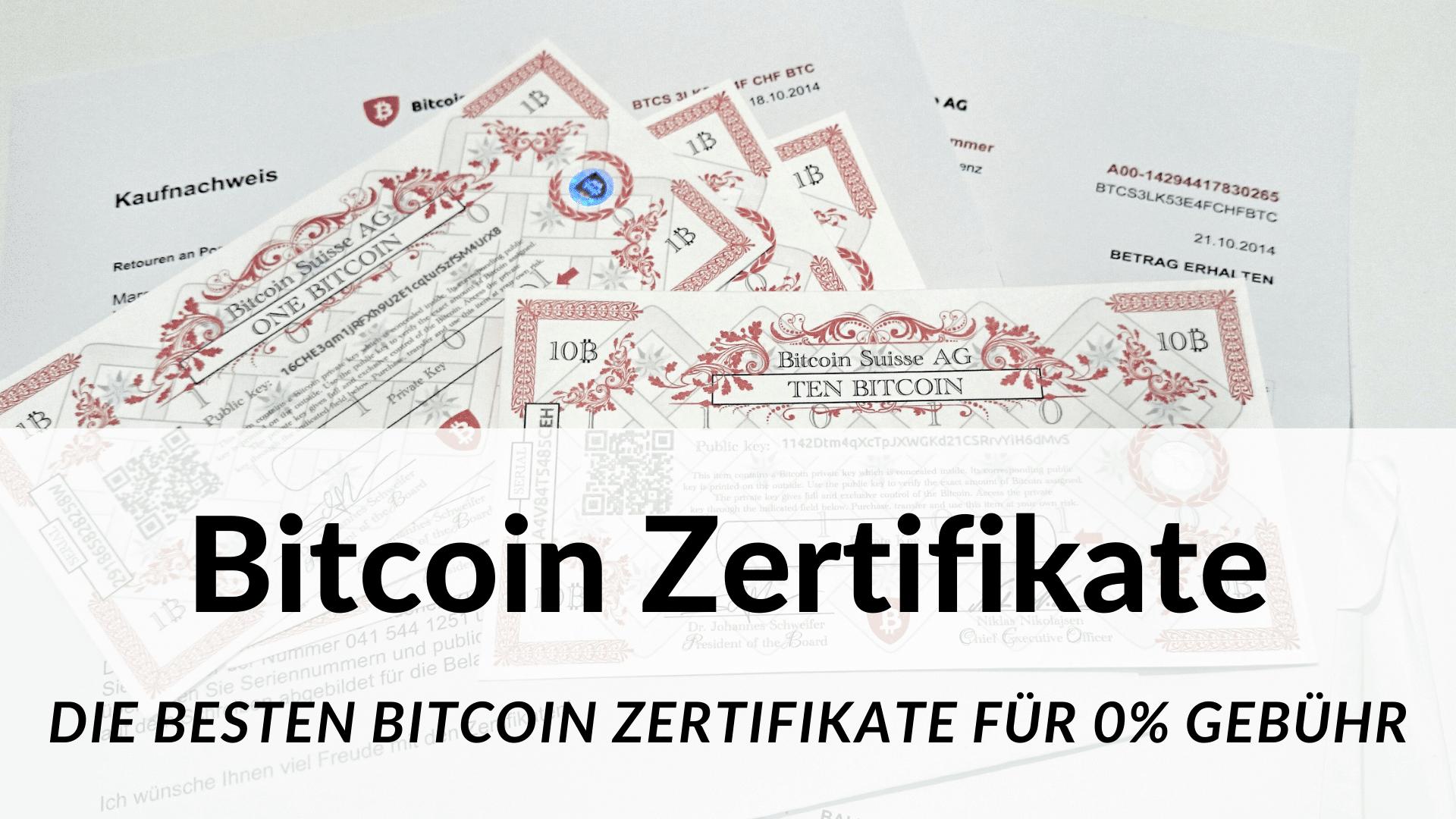 Bitcoin Zertifikate