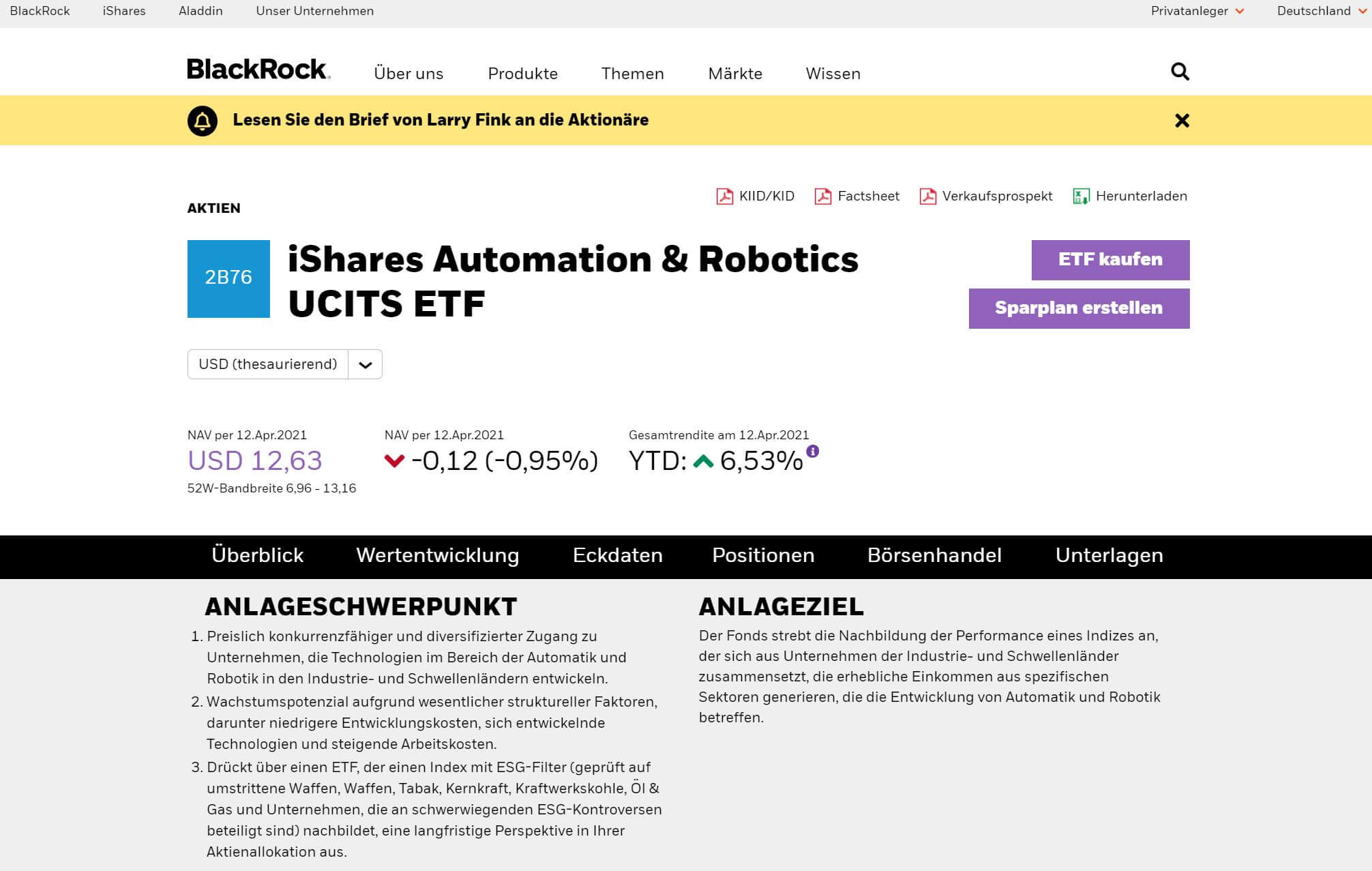 Blackrock iShares Automation