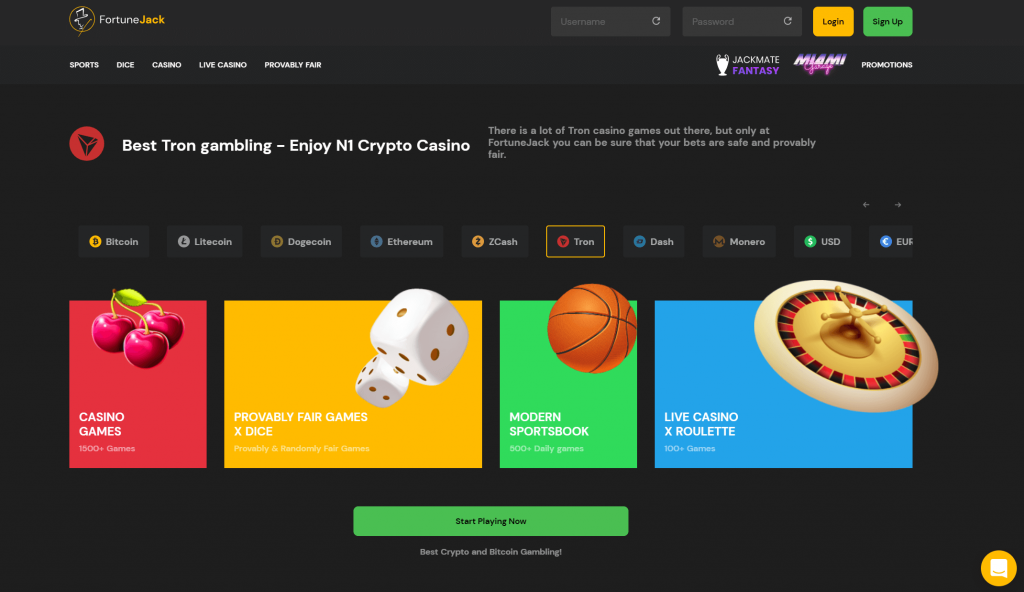 Fortune Jack Tron Casinos