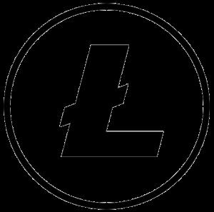 Litecoin Logo Schwarz