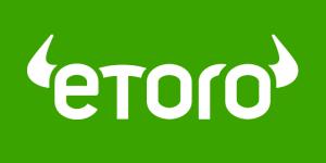 Etoro logo green background