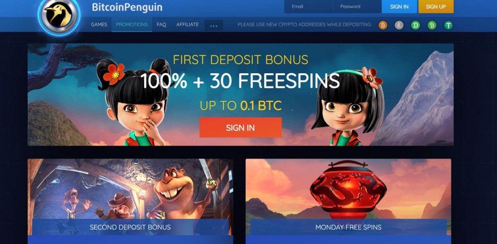 Bitcoin Penguin Casino Bonus
