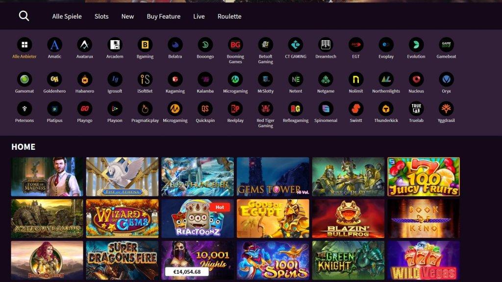 Wildblaster Casino Spiele