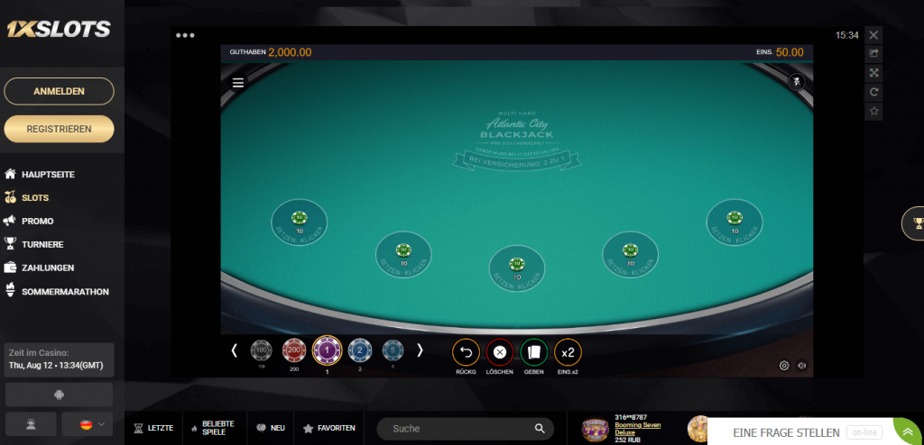 1xslots Casino Test