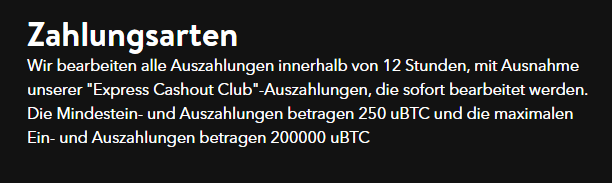321 Crypto Casino Zahlungsarten