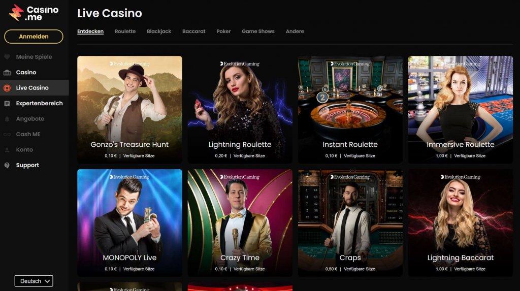 CasinoMe Test