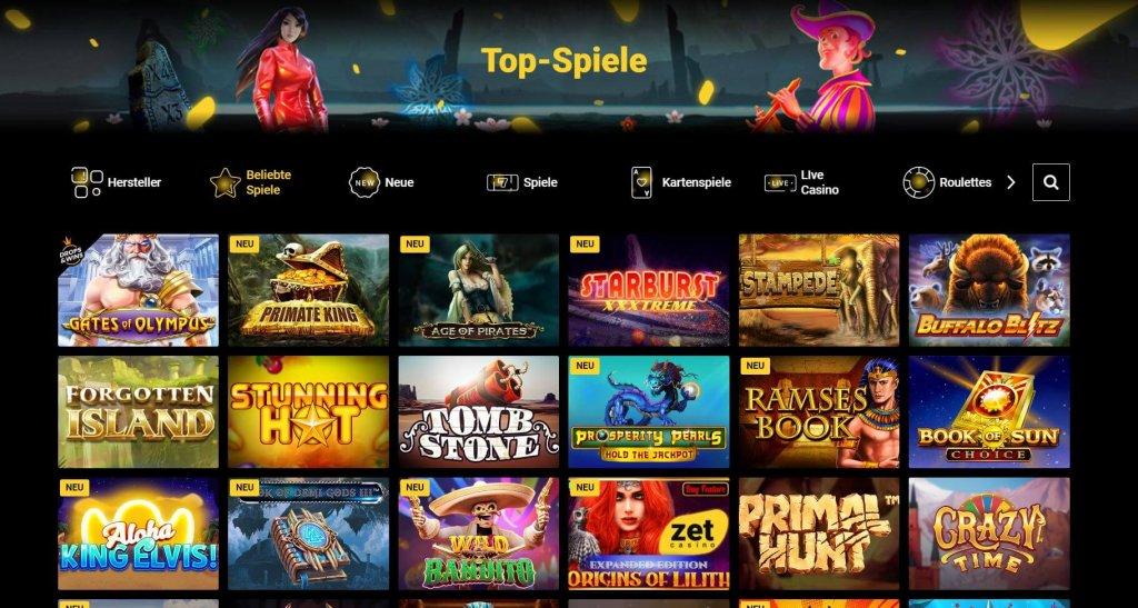 Zet Casino Spiele