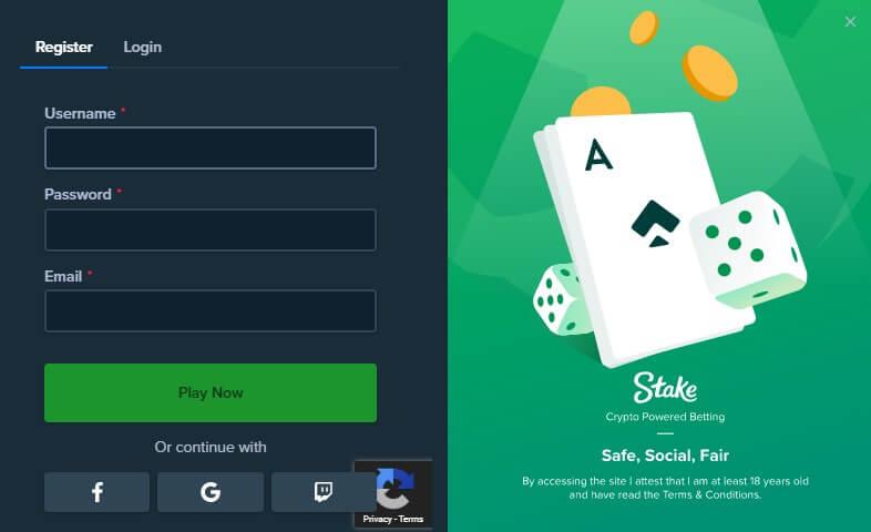 stake casino registrierung