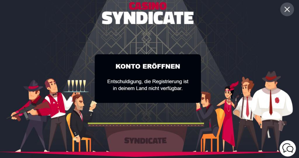 syndicate casino registrierung