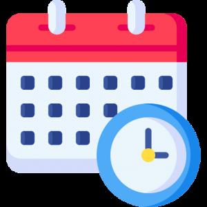 Kalender Haltedauer