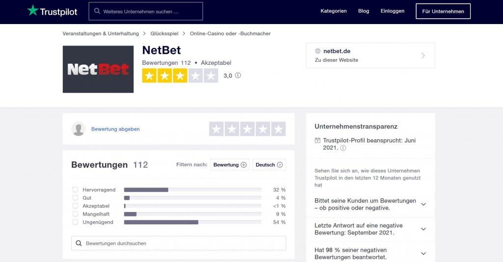 NetBet Casino Bewertung