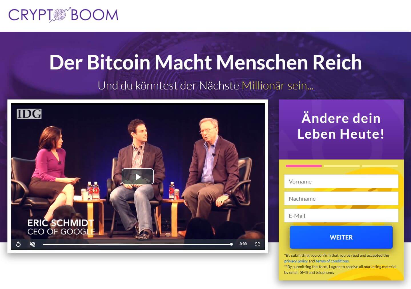 Crypto Boom Website