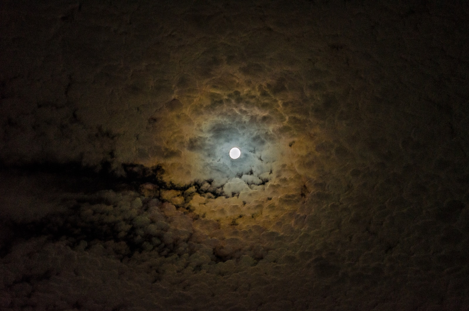 moon covered with clouds